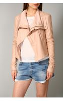 Veda Max Classic Leather Jacket Petal - Lyst