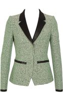 Balenciaga Industrial Tweed Jacket with Satin Details - Lyst