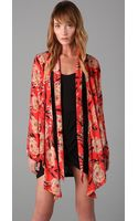 Winter Kate Tamarin Floral Shrug with Neck Tie - Lyst