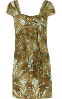 Philosophy di Alberta Ferretti Printed Silk Dress - Lyst