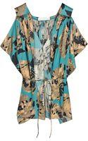 Stella McCartney Printed Silk Blouse - Lyst