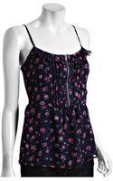 Heartloom Black Floral Print Milli Zipper Cami - Lyst
