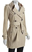 Burberry Brit Trench Double Breasted Buckingham Belted Trench - Lyst