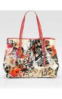 Jimmy Choo Scarlett Glazed Canvas Tote Bag - Lyst