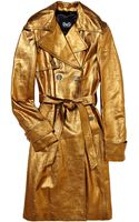 D&G Metallic Leather Trench - Lyst