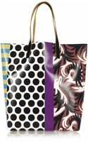 Marni Printed Glossed-canvas Tote - Lyst