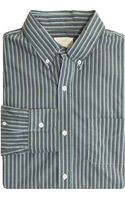 Band Of Outsiders Triple Stripe Sport Shirt - Lyst