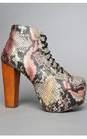 Jeffrey Campbell The Exclusive Lita Shoe in Brown and Beige Snake - Lyst
