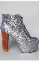 Jeffrey Campbell The Lita Shoe in Pewter Glitter - Lyst
