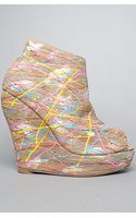 Jeffrey Campbell The Tick Paint Shoe in Taupe Multi - Lyst