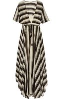 By Malene Birger Striped Cotton-blend Voile Maxi Dress - Lyst