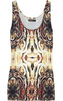 Supertrash Trustee Printed Stretch Satin-jersey Tank - Lyst