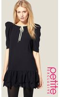 ASOS Collection Asos Petite Exclusive Mini Dress with Scallop Hem - Lyst