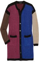 Etro Color-block Wool-blend Cardigan - Lyst