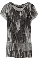 Isabel Marant Feather-print Linen Top - Lyst