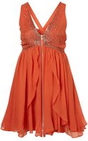 Topshop Scatter Beaded Babydoll Dress By Dress Up - Lyst