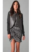 Thakoon Leather Trim Jacket - Lyst