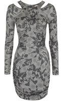 Matthew Williamson Leopard Jersey Keyhole Dress - Lyst