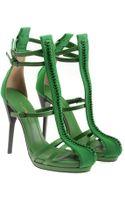 3.1 Phillip Lim Regine Leather Strap Heels with Braided Details - Lyst