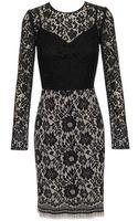 Dolce & Gabbana Lace and Silk Dress - Lyst