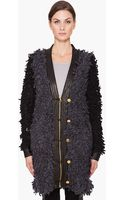 Rag & Bone Brent Coat in Charcoal/black - Lyst