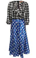 Duro Olowu Leaf Print Dress - Lyst