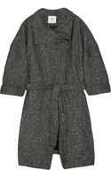 Halston Heritage Metallic Wool-blend Tweed Coat - Lyst