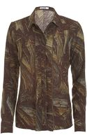 Jil Sander Ruffle Dress Shirt - Lyst
