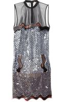 Christopher Kane Alexa Sequined Tulle Dress - Lyst