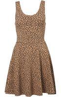Topshop Leopard Print Tunic - Lyst