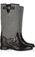 Christian Louboutin Akhalil 70 Suede and Leather Biker Boots - Lyst