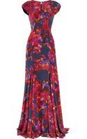 Erdem Lucietta Floral-print Silk Crepe De Chine Gown - Lyst