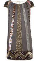 AllSaints Bloque Dazzle Dress - Lyst