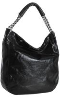 Furla Onyx Patent Leather Frieze Chain Strap Hobo - Lyst
