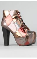 Jeffrey Campbell The Lita Shoe in Bronze Combo - Lyst