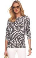 Michael Kors Zebra-print Cashmere Sweater - Lyst