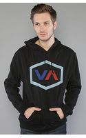 RVCA The Oiler Pullover Hoody in Black - Lyst