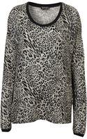 Topshop Foil Leopard Print Sweatshirt - Lyst