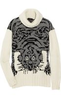 Joseph Tiger-intarsia Wool-blend Sweater - Lyst