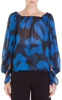 Saint Laurent Silk Peasant Blouse - Lyst