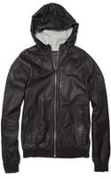 Marc By Marc Jacobs Washed Leather Bomber Jacket - Lyst