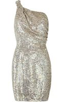 AllSaints Velutina One Shoulder Dress - Lyst