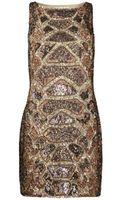 AllSaints Embellished Python Dress - Lyst