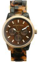 Michael Kors Tortoise Shell-colored Bracelet Watch - Lyst