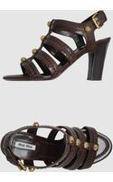 Miu Miu High Heeled Sandals - Lyst