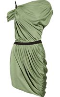 Catherine Malandrino Asymmetric Ruched Silk-jersey Dress - Lyst
