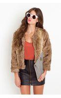Nasty Gal Faye Faux Fur Coat - Lyst
