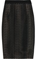 Giambattista Valli Layered Silk-crepe and Cotton-blend Pencil Skirt - Lyst