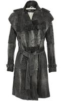 Revillon Persian Lamb Trench Coat with Belt - Lyst