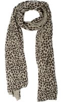 Autumn Cashmere Leopard Printed Scarf - Wheat - Lyst